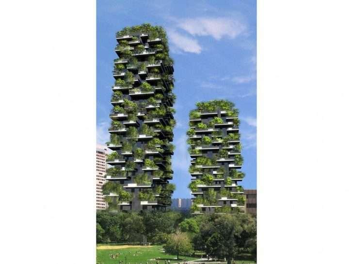 небоскреб в зелени