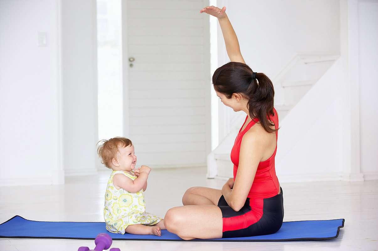 Спортивные упражнения для матери и ребенка
