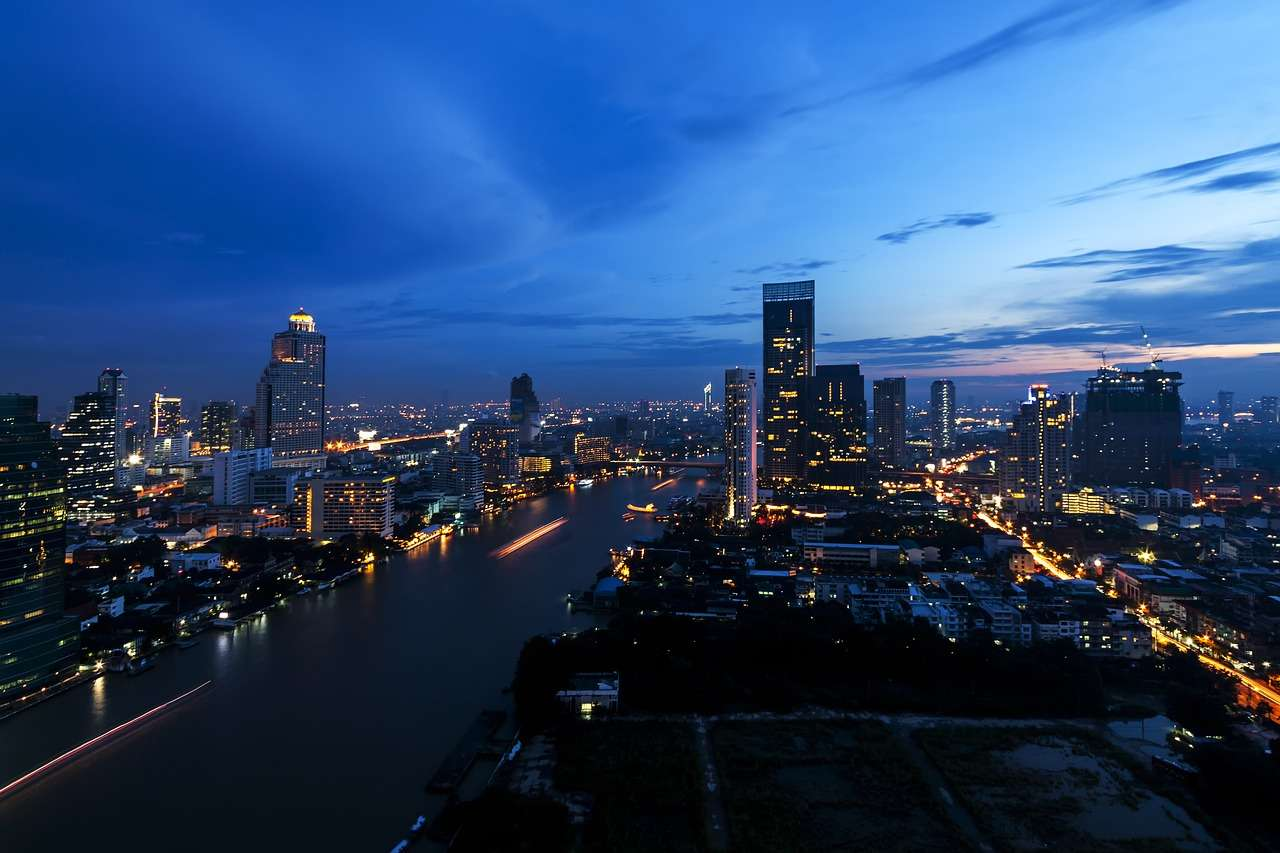Город Бангкок Таиланд Азии Небоскреб Архитектуры