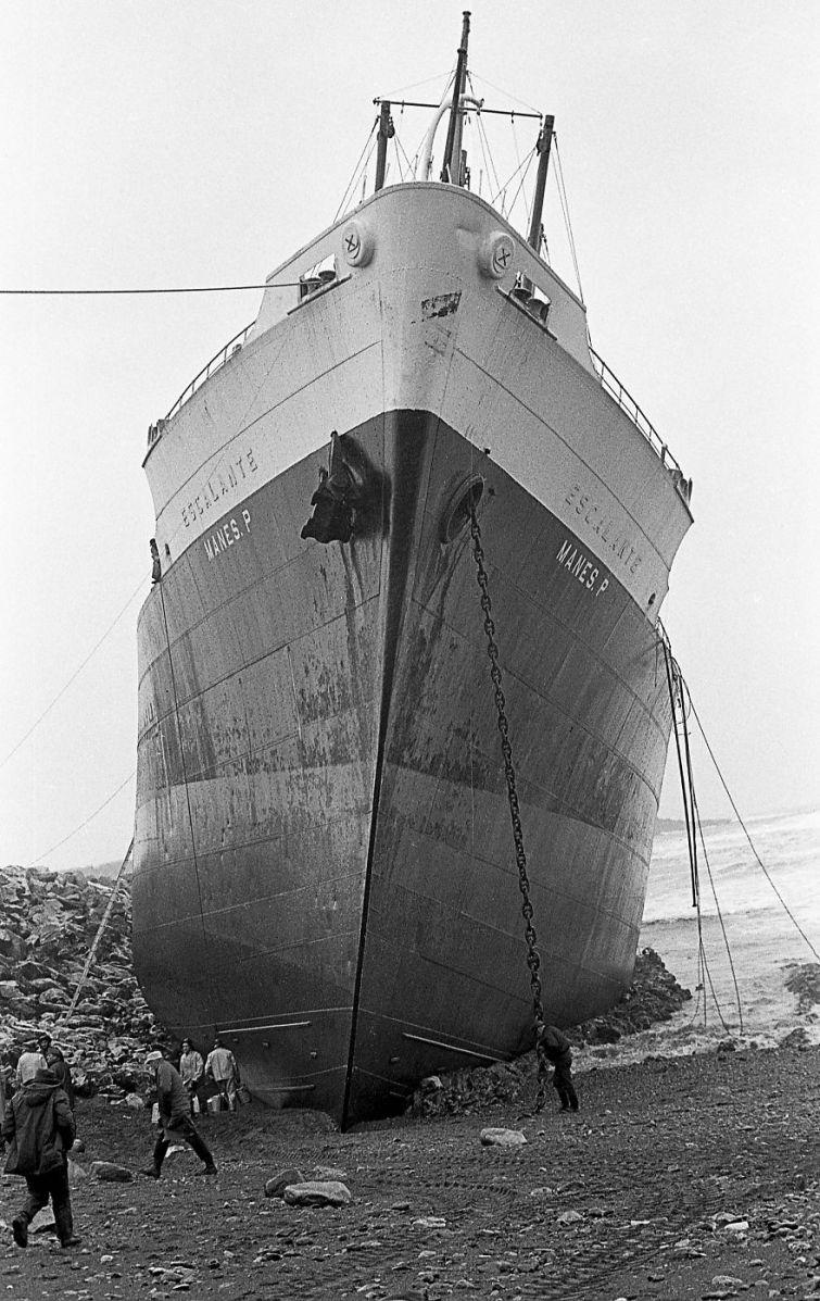 корабель сів на мілину