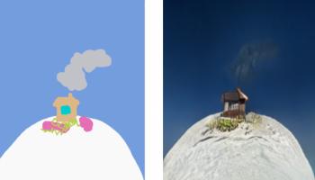 Появилась программа, которая превращает детские рисунки в реалистичные пейзажи